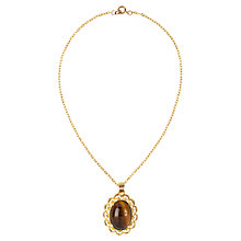 Buy Susan Caplan Vintage 1950s Napier Tiger's Eye Necklace, Gold Online at johnlewis.com