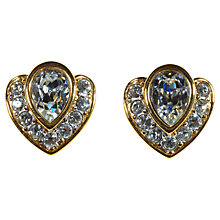 Buy Alice Joseph Vintage 1980's Attwood & Sawyer White Diamante Stud Earrings Online at johnlewis.com