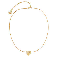 Buy Susan Caplan Vintage 1990s Givenchy Sculpted Heart Pendant, Gold Online at johnlewis.com