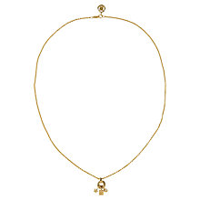 Buy Susan Caplan Vintage 1990s Givenchy Charm Drop Necklace, Gold Online at johnlewis.com