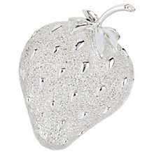 Buy Susan Caplan Vintage 1960s Sarah Coventry Strawberry Brooch, Silver Online at johnlewis.com