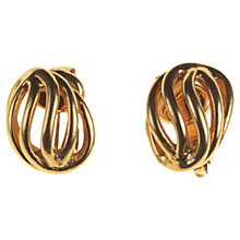 Buy Alice Joseph Vintage 1960's Christian Dior Gilt Plated Clip-On Earrings, Gold Online at johnlewis.com