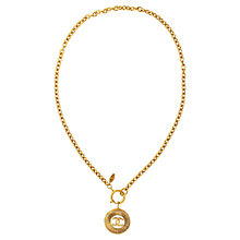 Buy Susan Caplan Vintage 1980s Chanel Gilt Plated Pendant Necklace, Gold Online at johnlewis.com