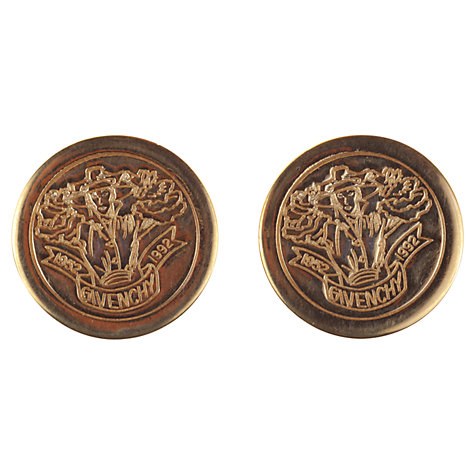 Buy Alice Joseph Vintage 1992 Givenchy Commemorative  Clip-On  Earrings, Gold Online at johnlewis.com
