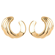 Buy Susan Caplan Vintage 1980s Monet Gold Plated Curl Clip-On Earrings, Gold Online at johnlewis.com
