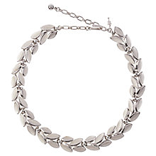 Buy Susan Caplan Vintage 1960s Trifari Silver Plated Laurel Necklace, Silver Online at johnlewis.com