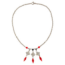 Buy Susan Caplan Vintage 1930s Ruby Red Crystal Necklace, Silver Online at johnlewis.com