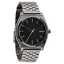 Buy Nixon A045-1885 Unisex Time Teller Bracelet Watch, Gunmetal / Black Online at johnlewis.com