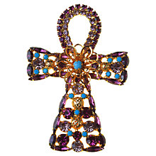 Buy Alice Joseph Vintage 1970s DeLizza & Elster Gilt Plated Ankh Brooch, Purple Online at johnlewis.com