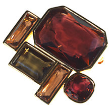 Buy Alice Joseph Vintage Swarovski Glass Crystal Brooch, Brown Online at johnlewis.com