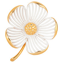 Buy Susan Caplan Vintage 1960s Monet Posy Brooch, Gold Online at johnlewis.com