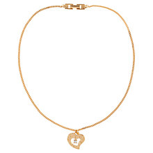 Buy Susan Caplan Vintage 1990s Givenchy Open Heart Pendant, Gold Online at johnlewis.com