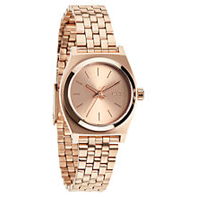 Buy Nixon A399 Women's The Small Time Teller Watch, Rose Gold Online at johnlewis.com