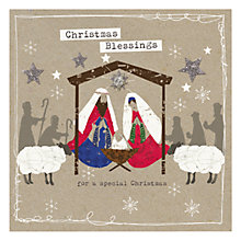 Buy Hammond Gower Kraft Nativity Charity Christmas Cards, Pack of 5 Online at johnlewis.com