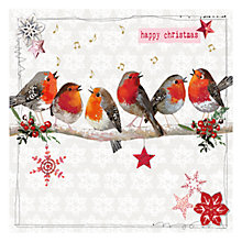 Buy Hammond Gower Robins on Branch Charity Christmas Cards, Pack of 5 Online at johnlewis.com