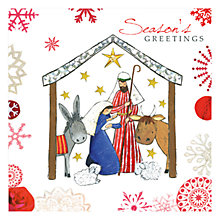 Buy Hammond Gower Nativity Scene Charity Christmas Cards, Pack of 5 Online at johnlewis.com