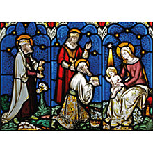 Buy Museums & Galleries Adoration of the Magic Charity Christmas Card Online at johnlewis.com