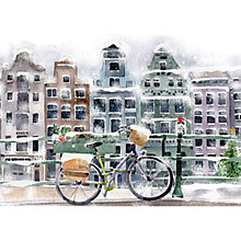 Buy Museums & Galleries Bicycle in Amsterdam Charity Christmas Cards, Pack of 8 Online at johnlewis.com