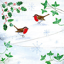 Buy Museums & Galleries Robins in the Snow Charity Christmas Cards, Pack of 5 Online at johnlewis.com