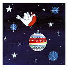 Buy Museums & Galleries Robin and Bauble Charity Christmas Cards, Pack of 5 Online at johnlewis.com