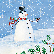 Buy Paper House Snowman and Robin Charity Christmas Cards, Pack of 6 Online at johnlewis.com