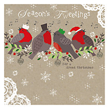 Buy Hammond Gower Kraft Robins Charity Christmas Cards, Pack of 5 Online at johnlewis.com