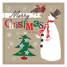 Buy Hammond Gower Kraft Snowman Charity Christmas Cards, Pack of 5 Online at johnlewis.com