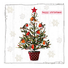 Buy Hammond Gower Robins in Tree Charity Christmas Cards, Pack of 5 Online at johnlewis.com