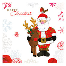 Buy Hammond Gower Santa and Reindeer Charity Christmas Cards, Pack of 5 Online at johnlewis.com