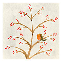 Buy Museums & Galleries Robin and Winter Berries Charity Christmas Cards, Pack of 8 Online at johnlewis.com