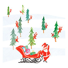 Buy Museums & Galleries Father Christmas Peak-a-Boo Charity Christmas Cards, Pack of 8 Online at johnlewis.com