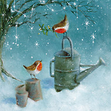 Buy Museums & Galleries Robins in the Snow Charity Christmas Cards, Pack of 8 Online at johnlewis.com