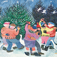 Buy Paper House Dancing Around the Tree Charity Christmas Cards, Pack of 6 Online at johnlewis.com