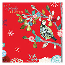 Buy Hammond Gower Partridge In A Pear Tree Charity Christmas Cards in Welsh, Pack of 5 Online at johnlewis.com