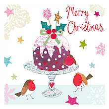 Buy Hammond Gower Christmas Pudding Charity Christmas Cards, Pack of 5 Online at johnlewis.com
