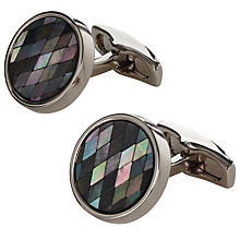 Buy Simon Carter Mother of Pearl Cufflinks, Mother of Pearl Online at johnlewis.com