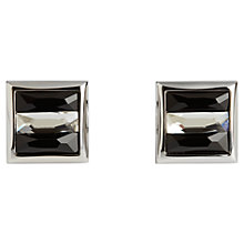 Buy Simon Carter Swarovski Crystal Square Cufflinks, Black Online at johnlewis.com