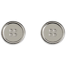 Buy Simon Carter Platinum Plated Button Cufflinks Online at johnlewis.com