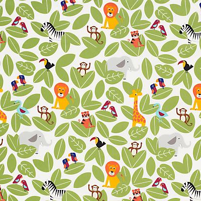 little home at John Lewis Animal Fun Furnishing Fabric