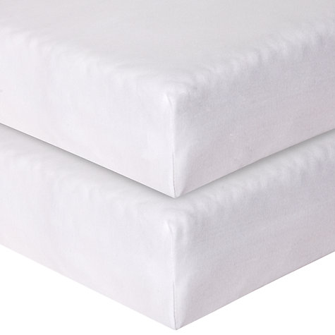 Buy John Lewis Baby Fitted Cotbed Sheets, Pack of 2 Online at johnlewis.com