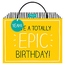 Buy Happy Jackson Epic Birthday Shopper Bag Online at johnlewis.com