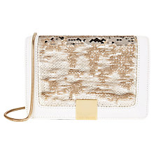 Buy Ted Baker Sequina Sequin Detail Clutch Bag, Gold Online at johnlewis.com