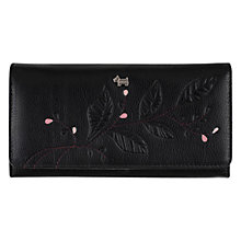 Buy Radley Little Laurels Matinee Large Leather Flapover Purse, Black Online at johnlewis.com