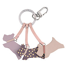 Buy Radley On The Run Leather Keyring, Pink Online at johnlewis.com
