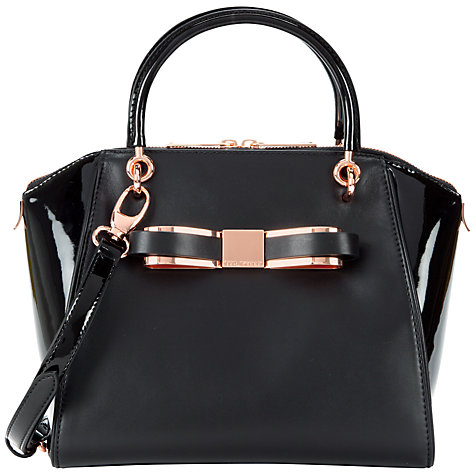 Buy Ted Baker Bandook Slim Small Leather Tote Bag Online at johnlewis.com
