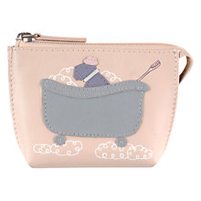 Buy Radley Bubble Trouble Small Zip Coin Leather Purse, Ivory Online at johnlewis.com