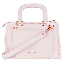 Buy Ted Baker Natraly Stab Stitch Leather Bag, Pale Pink Online at johnlewis.com