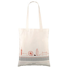 Buy Radley Pulse Of London Canvas Tote Bag, Orange Online at johnlewis.com