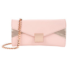 Buy Ted Baker Colourblock Across Body Clutch Bag, Nude Pink Online at johnlewis.com