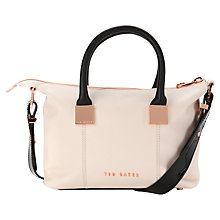 Buy Ted Baker Frimlor Metal Square Tote Bag, Nude Pink Online at johnlewis.com